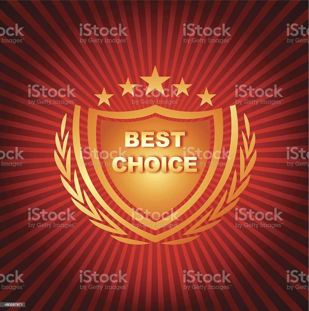 Best choice emblem royalty-free stock vector art