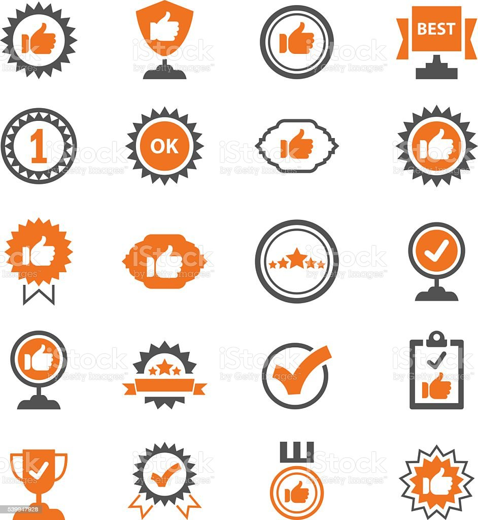 Best choice icons vector art illustration