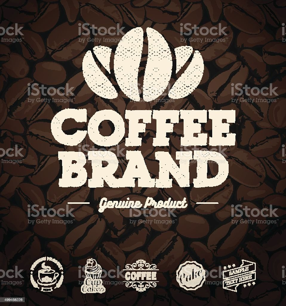 Best Coffee Label Designs vector art illustration