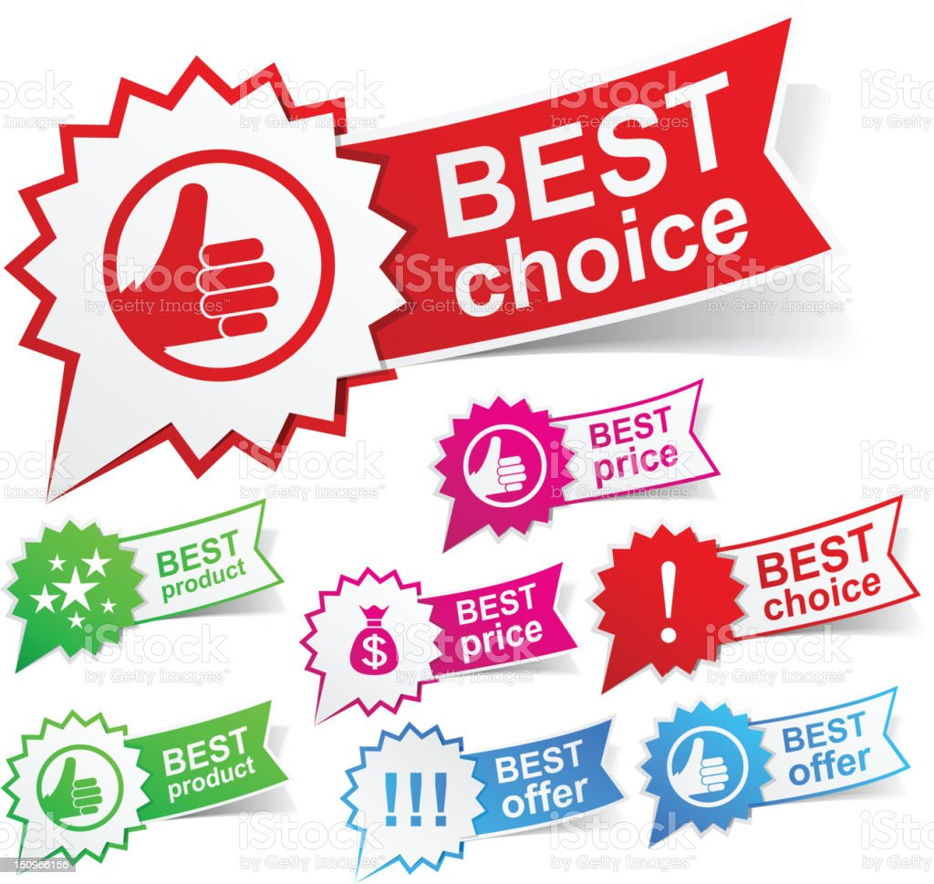 Best color tags. royalty-free stock vector art