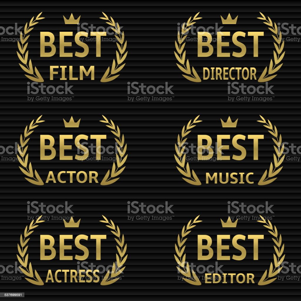 Best Film Award vector art illustration