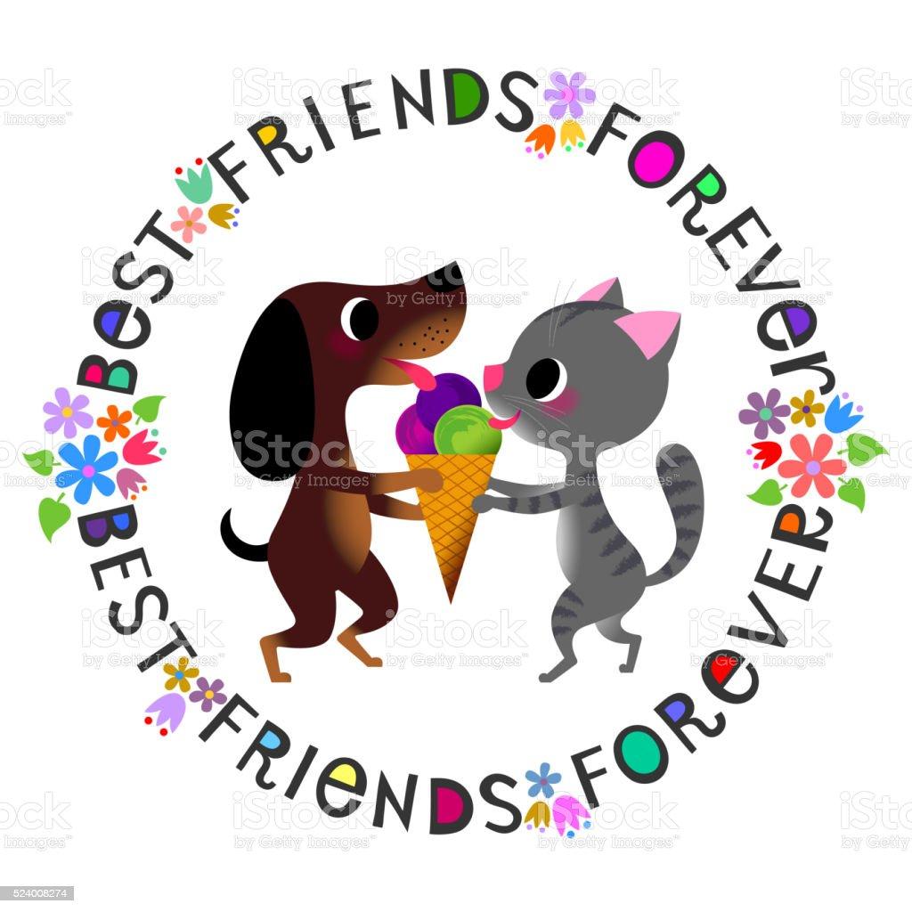 Best friends forever.92105175 vector art illustration
