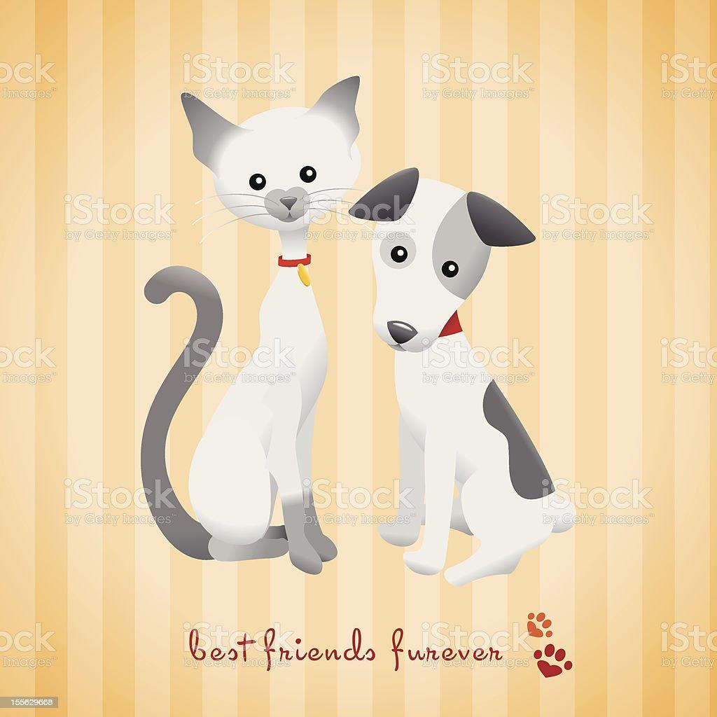 Best Friends Furever royalty-free stock vector art