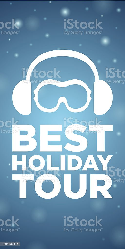 Best holiday tour on blue background royalty-free stock vector art