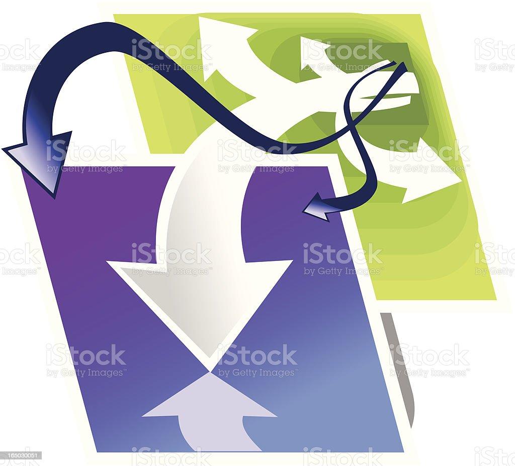 Logotipo de mejor idea de obtener una dirección illustracion libre de derechos libre de derechos