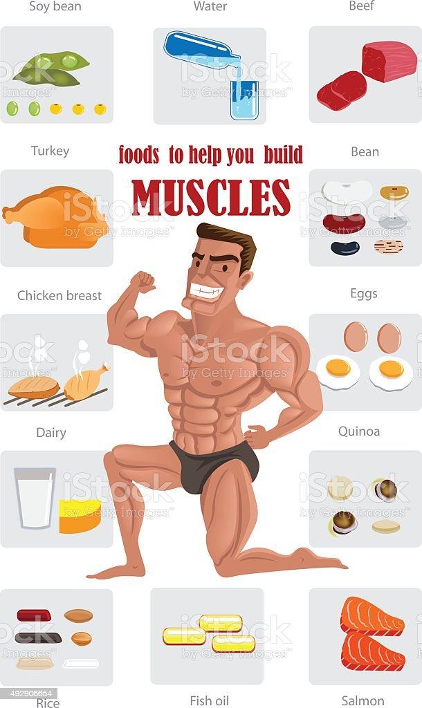 Miglior cibo muscolare illustrazione royalty-free