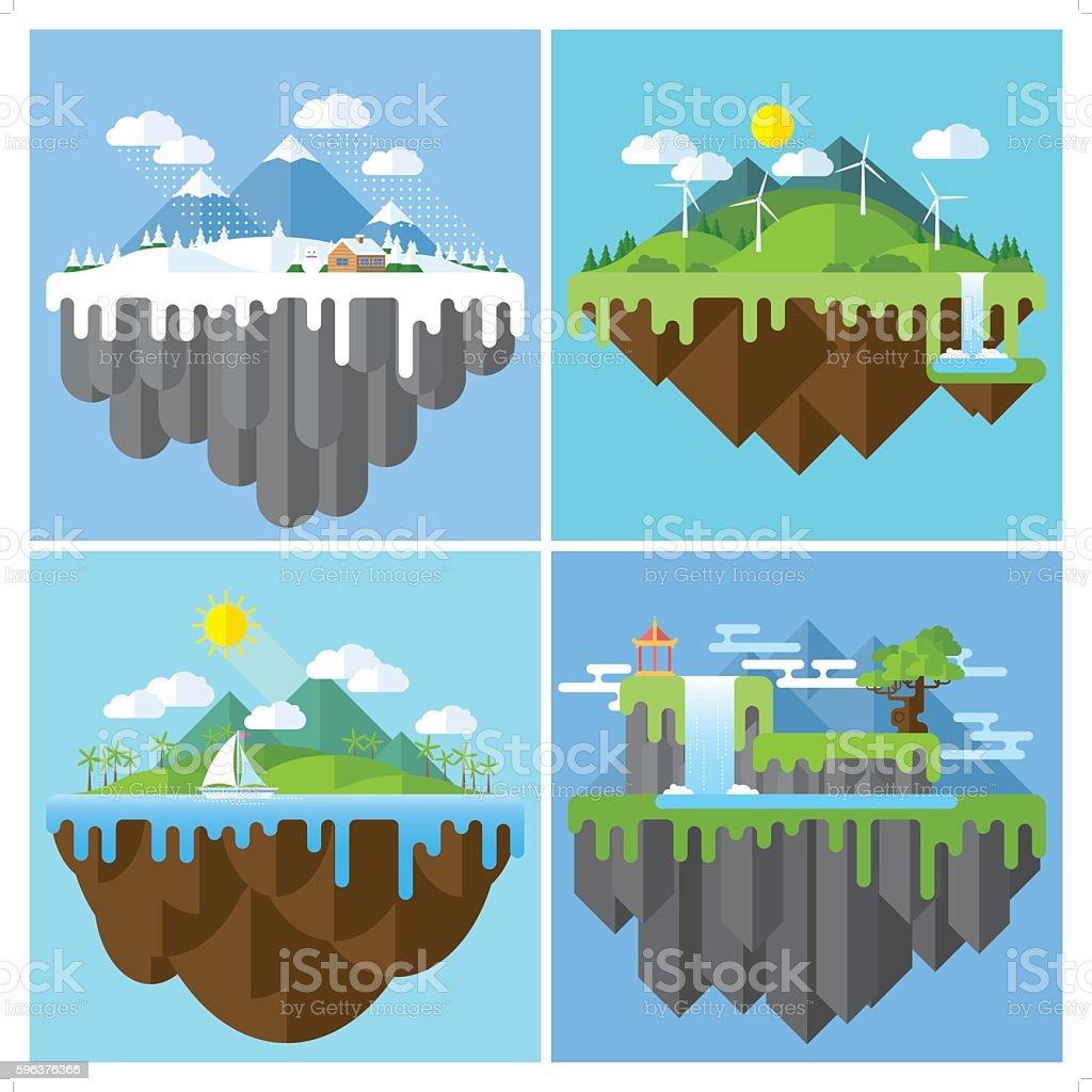 best nature location vector art illustration