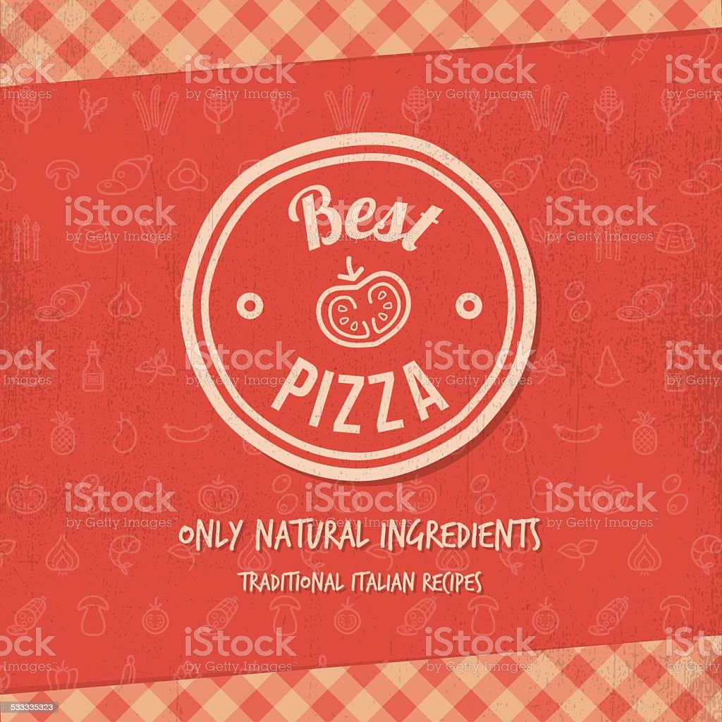 Best pizza vector art illustration