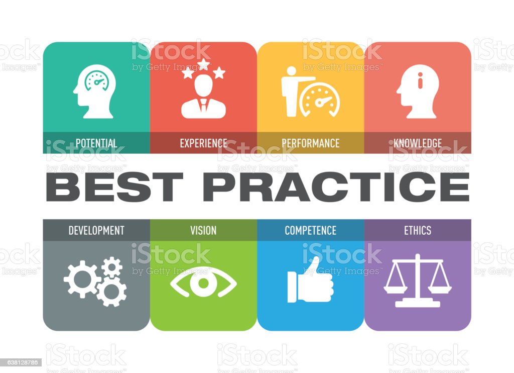 Best Practice Icon Set vector art illustration