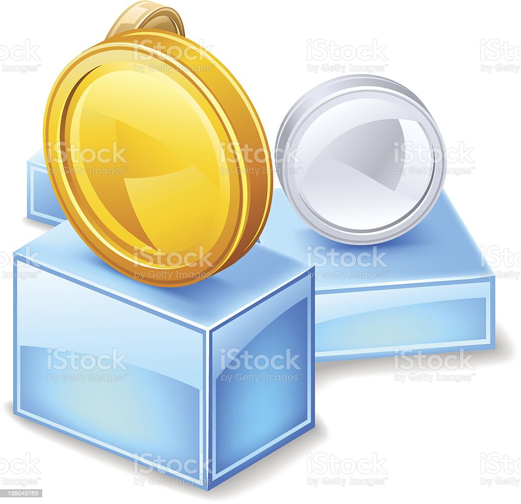 Best price — Coins at pedestal royalty-free stock vector art