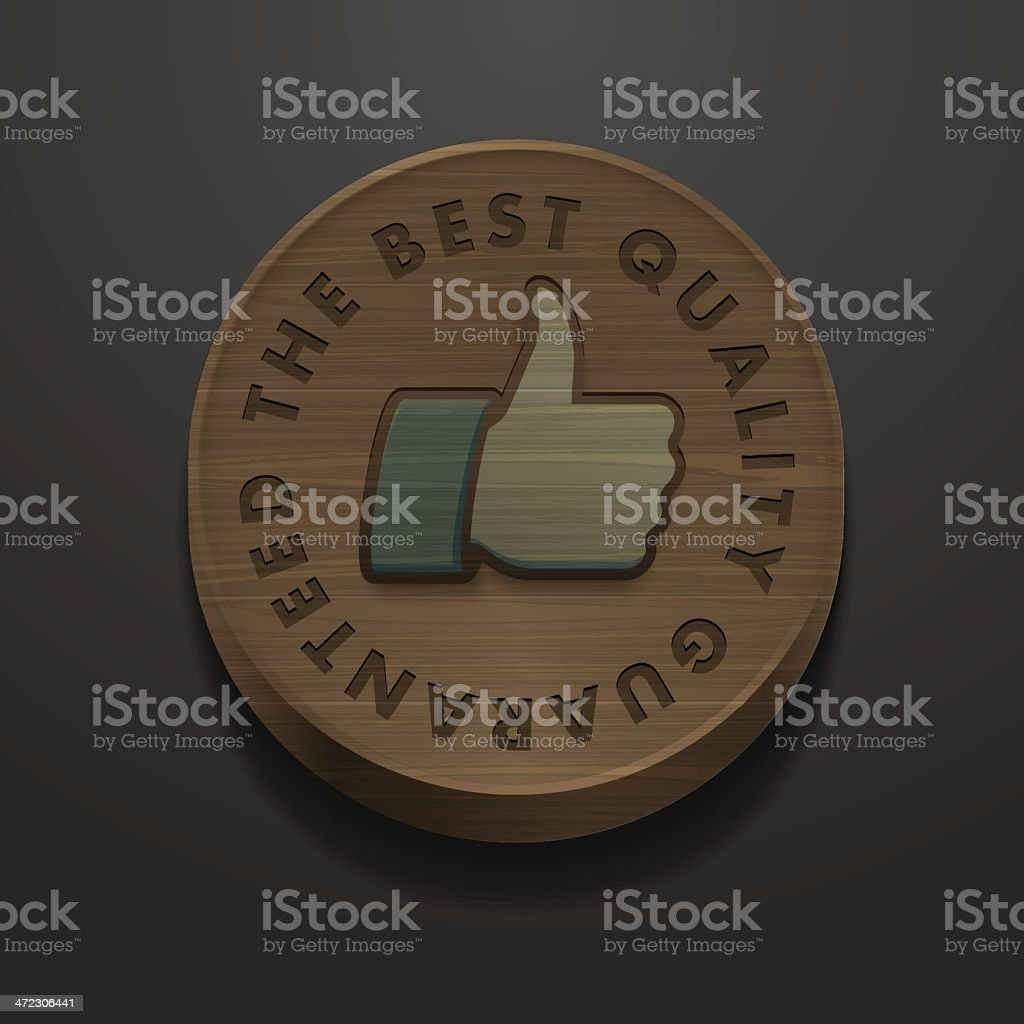 Best quality and guarantee icon vintage styled design royalty-free stock vector art
