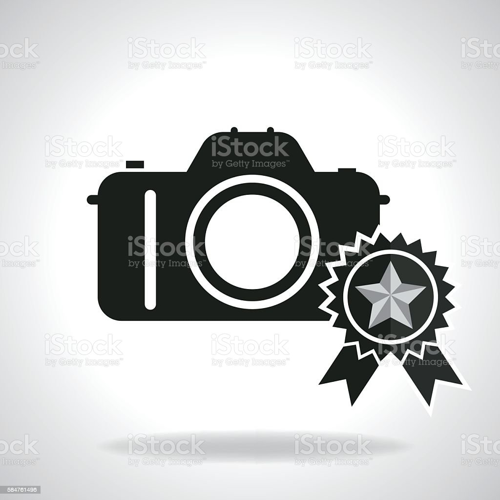 Best quality camera vector art illustration