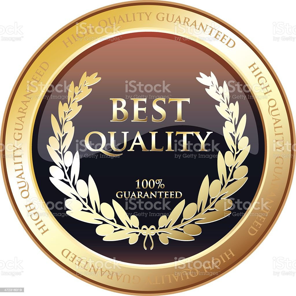 Best Quality Gold Award royalty-free stock vector art