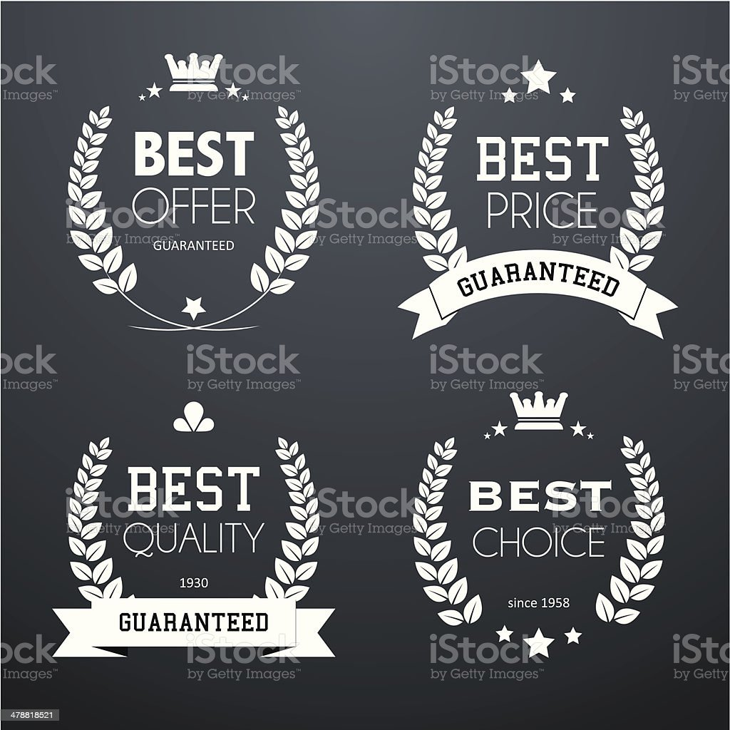 Best quality vintage laurel wreaths royalty-free stock vector art