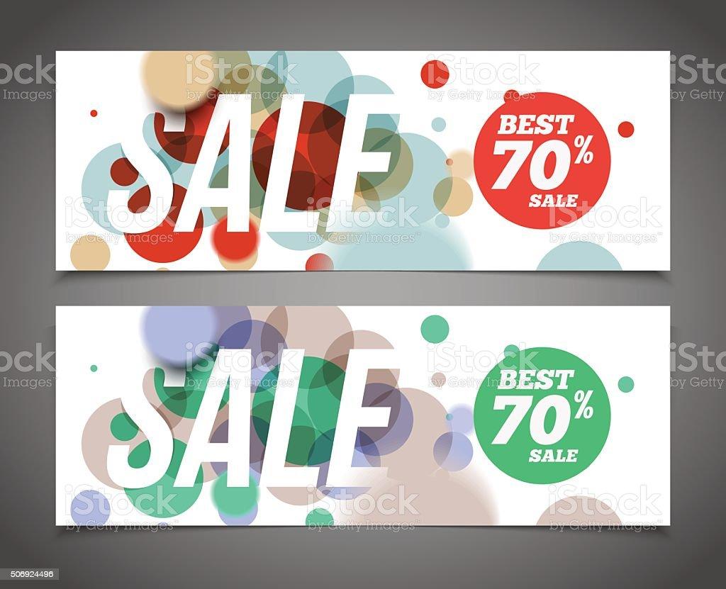 Best sale banner or offer design template vector art illustration
