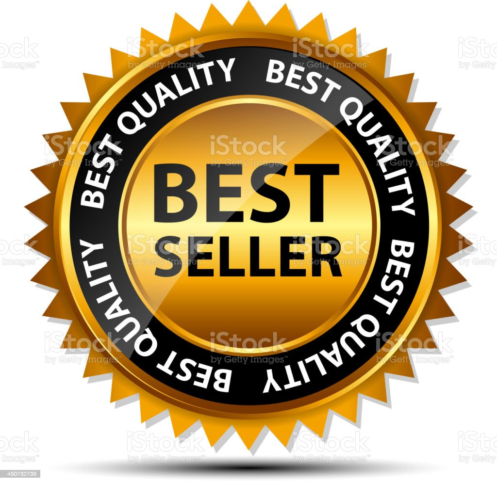 A best seller gold template label royalty-free stock vector art