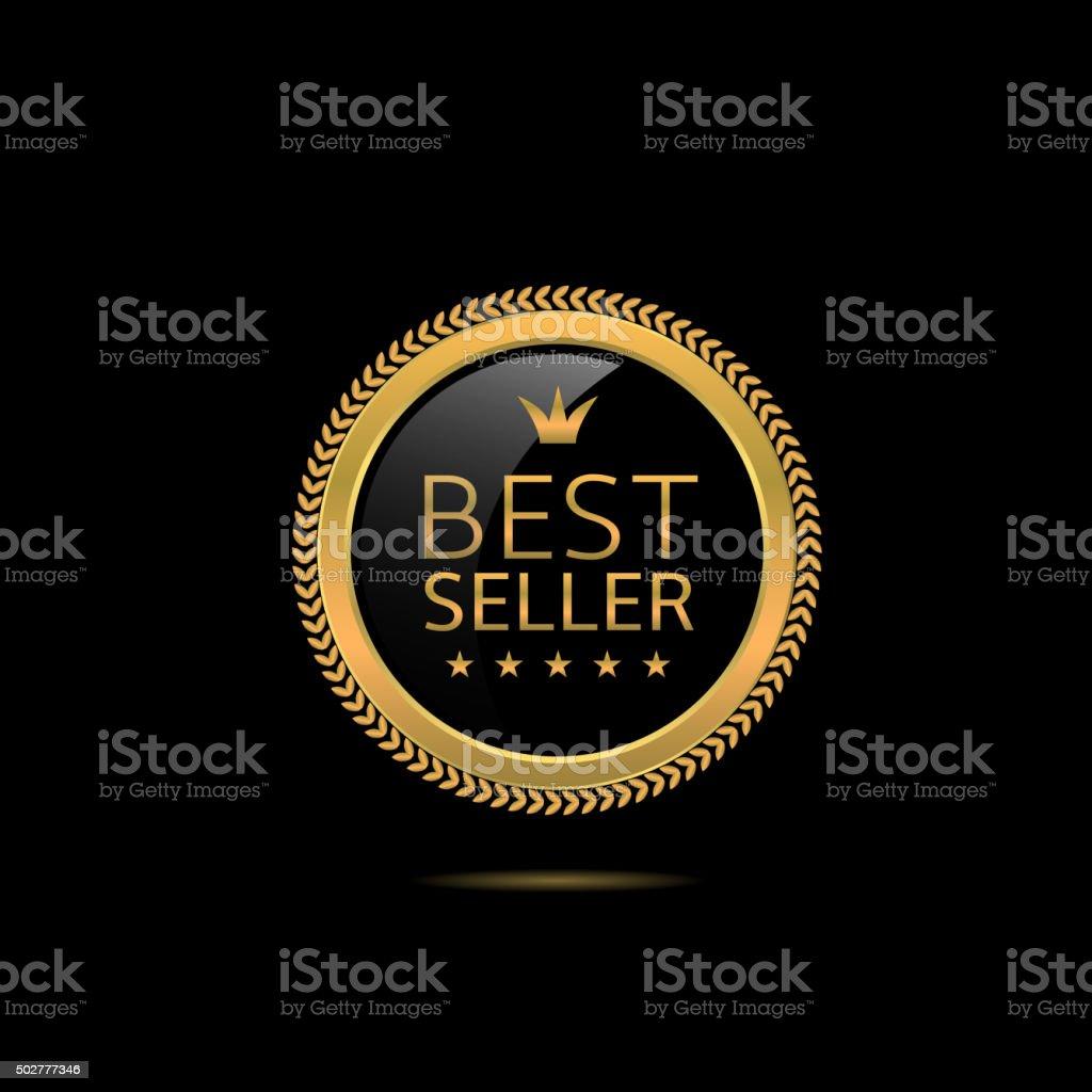 Best seller label vector art illustration