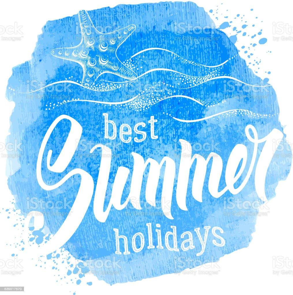 Best Summer Holidays vector art illustration