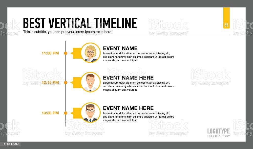 Best Vertical Timeline Template 2 vector art illustration