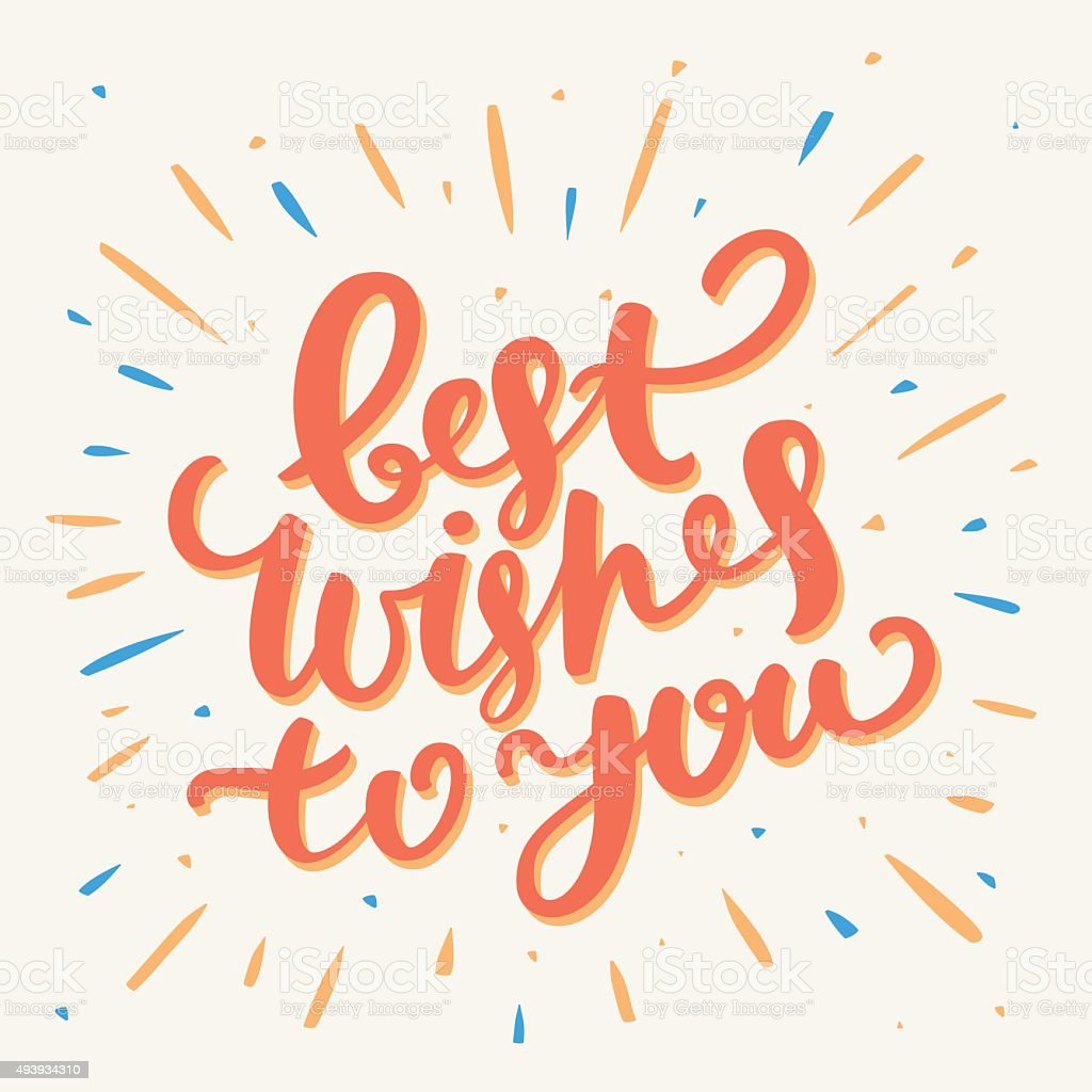 Best Wishes card. vector art illustration