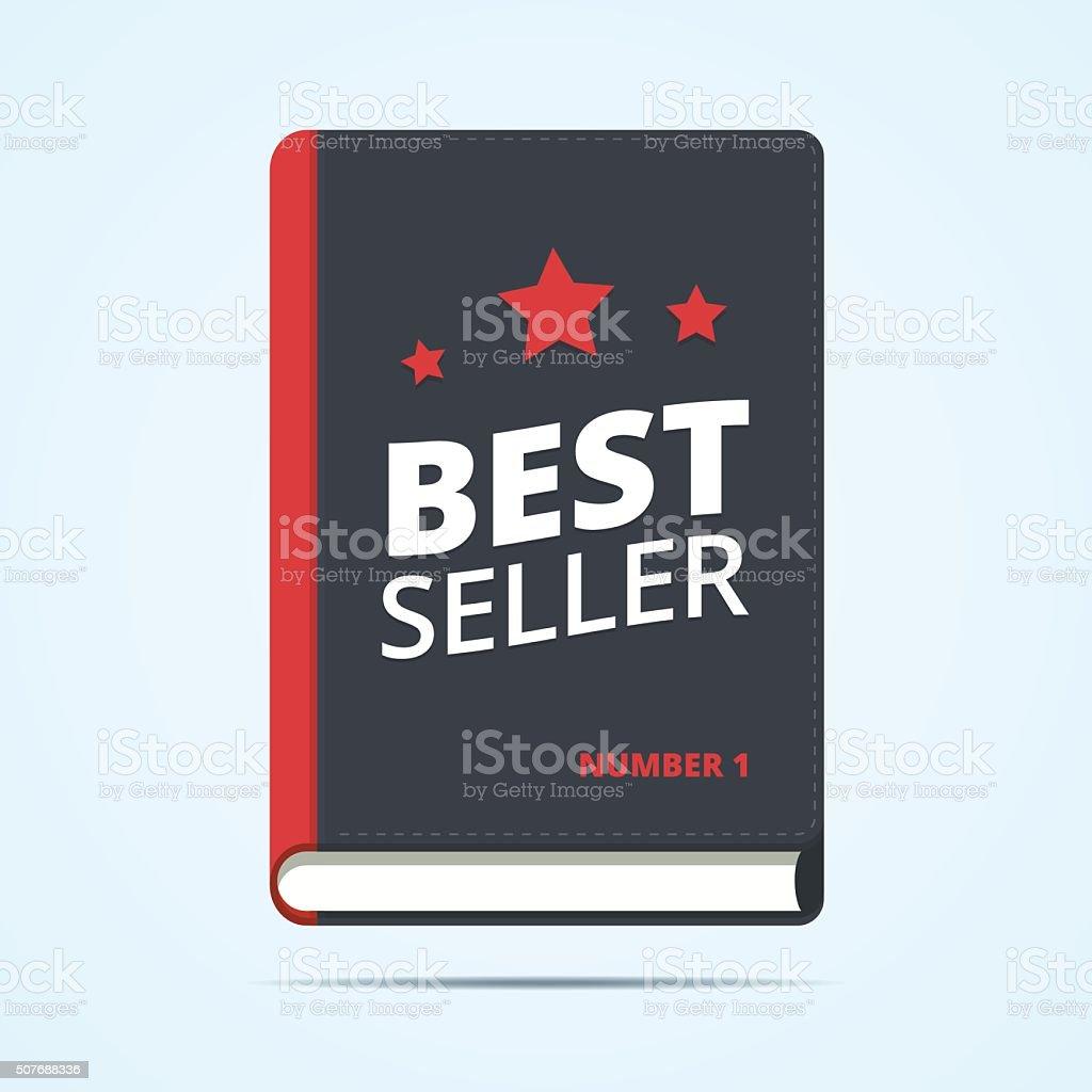 Bestseller book icon. vector art illustration