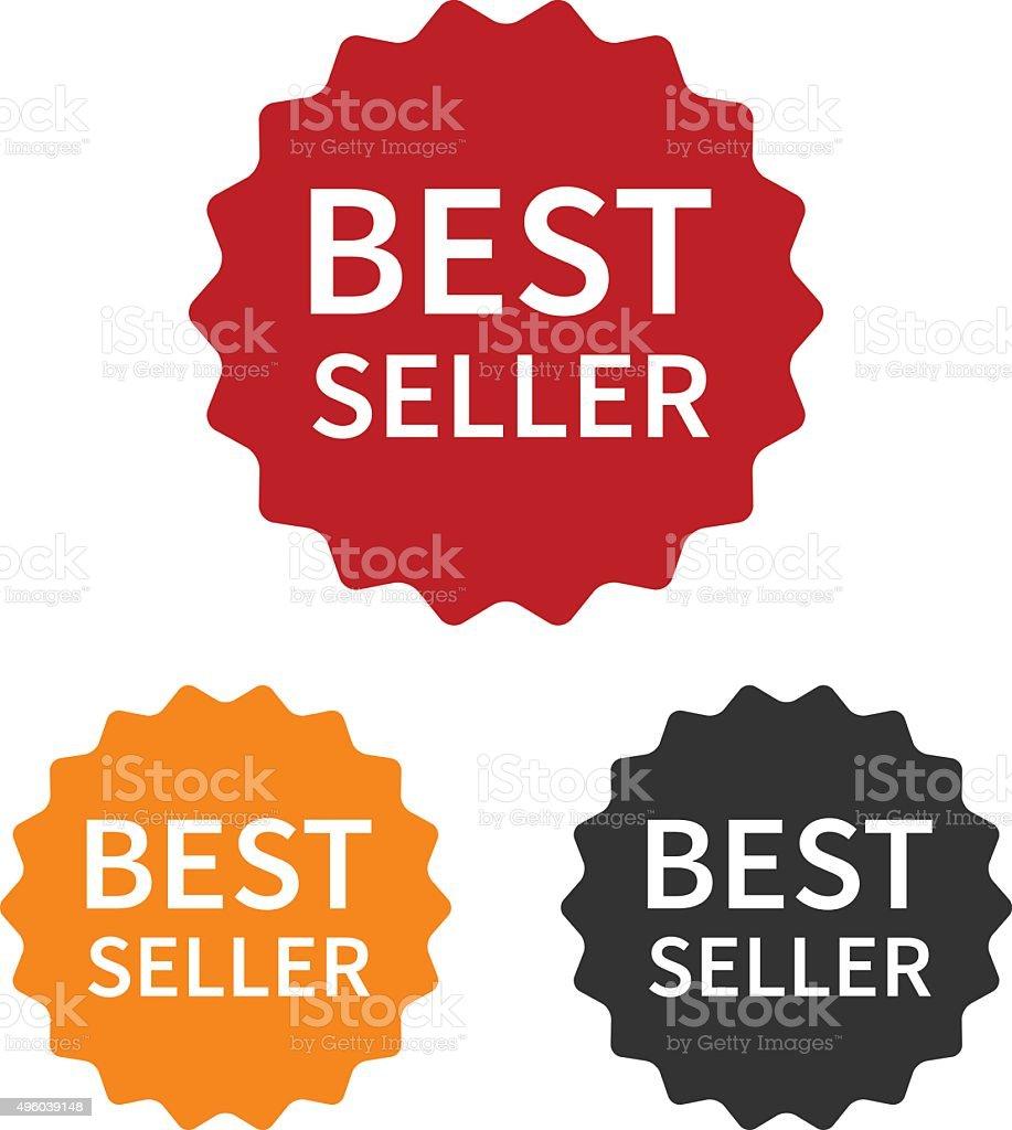 Bestseller (best seller) label or sticker badge flat icon vector art illustration