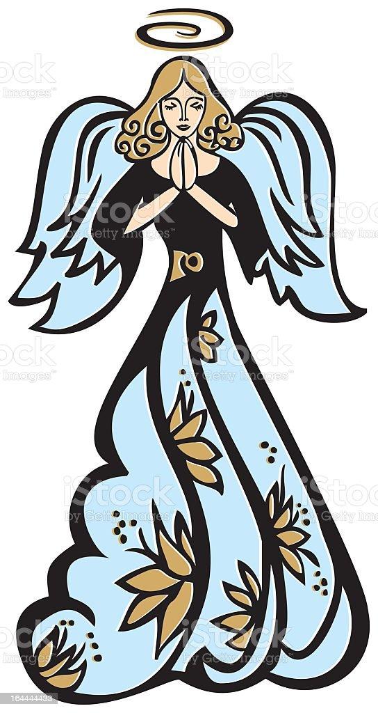 Betender Engel vector art illustration