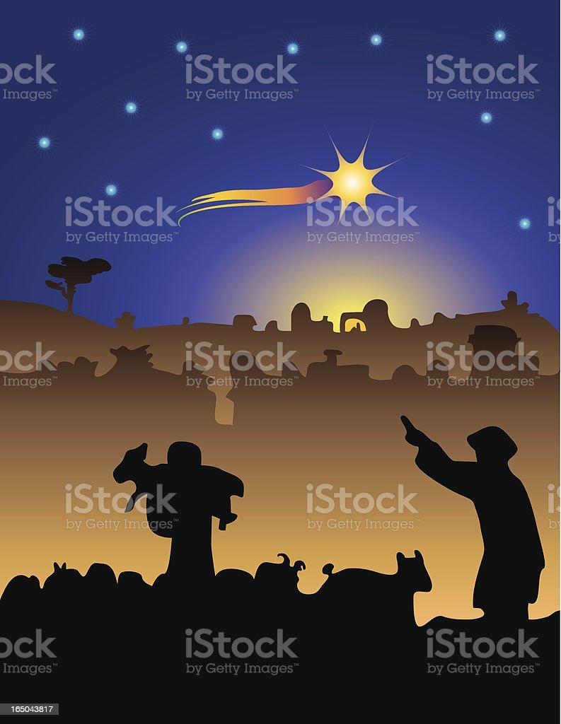 Bethlehem shepherds royalty-free stock vector art