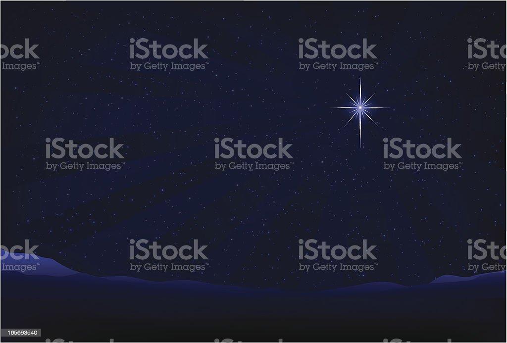 Bethlehem Star vector art illustration