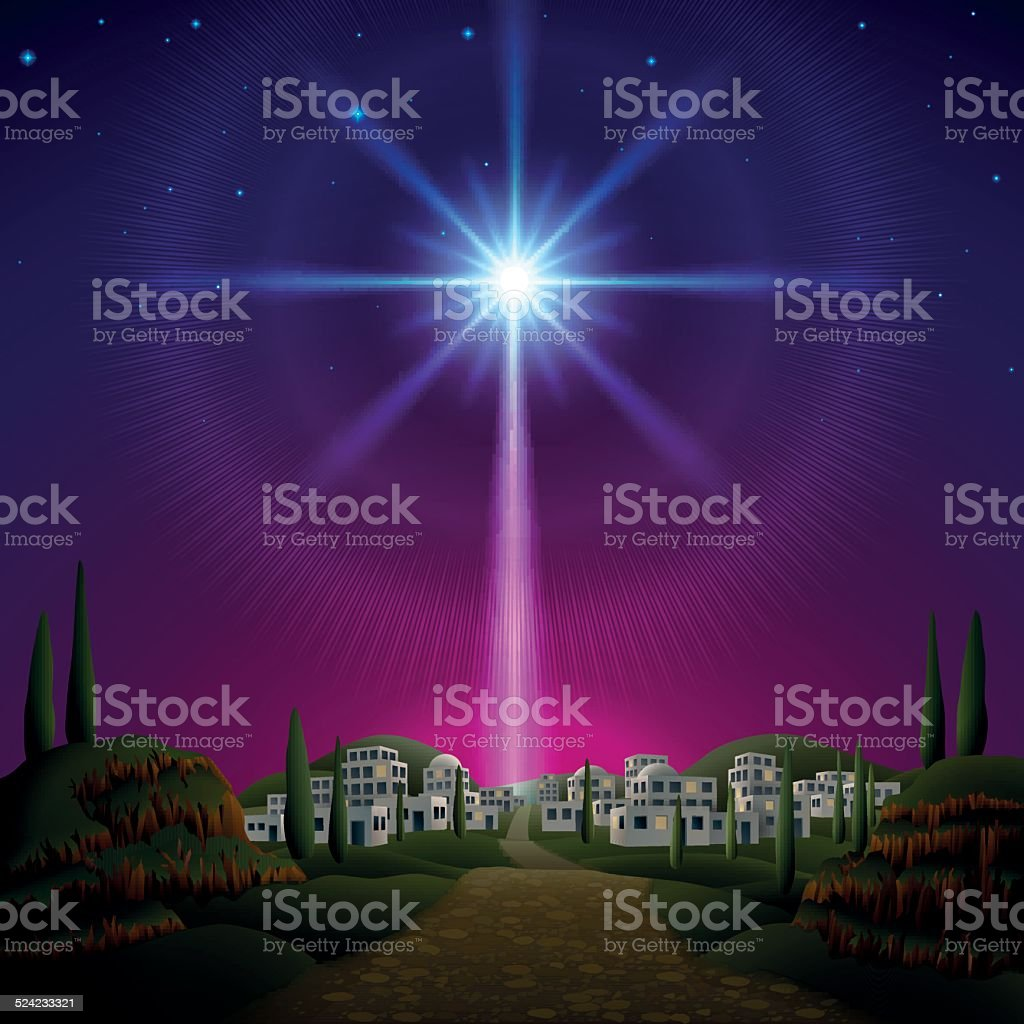 Bethlehem vector art illustration