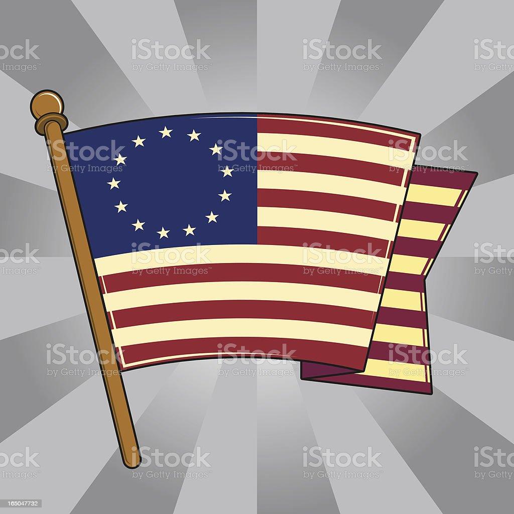 Betsy Ross Flag of the United States vector art illustration