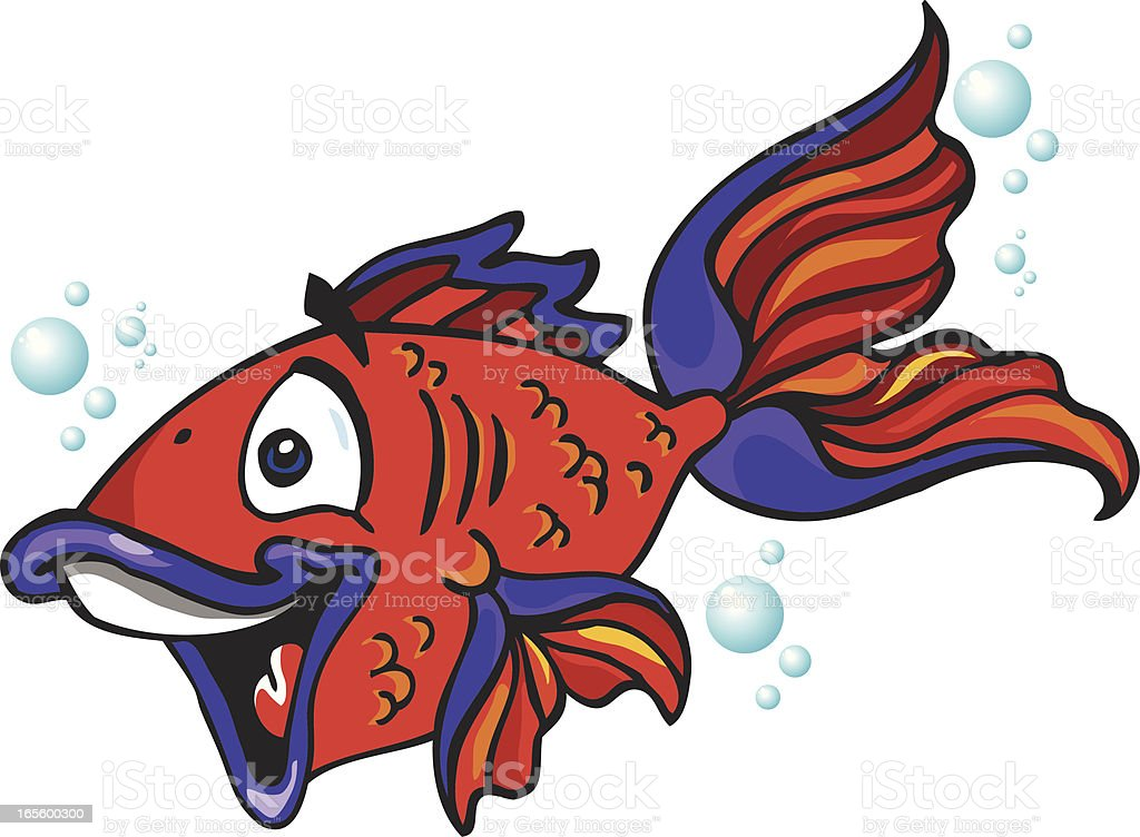 Betta Fishy Illustration royalty-free stock vector art