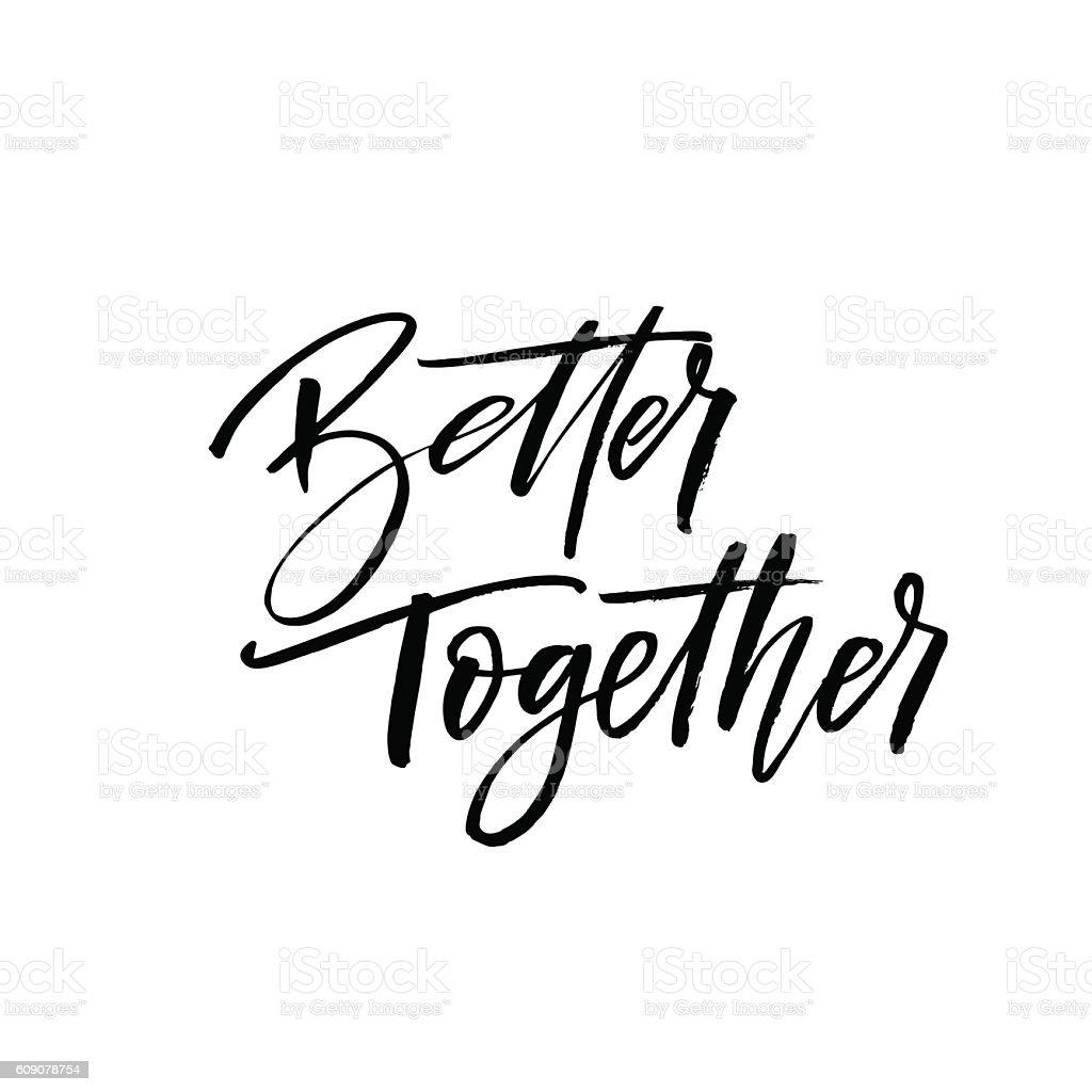 Better together postcard. vector art illustration