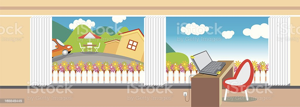 better working at home! royalty-free stock vector art