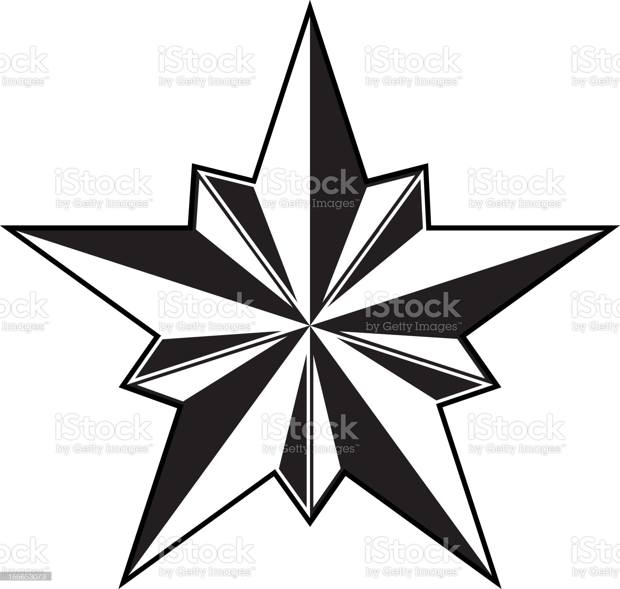 Beveled Vectorized Star royalty-free stock vector art