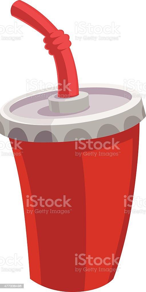 Beverage Cup Cartoon vector art illustration