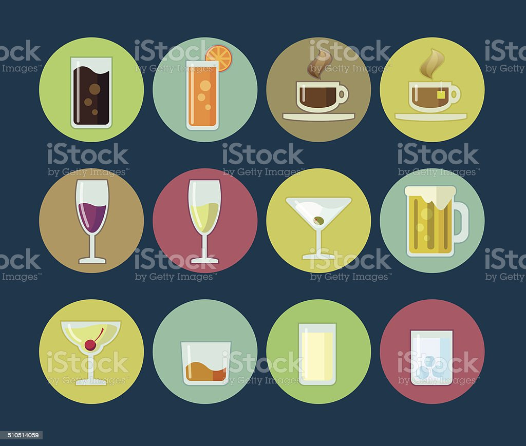 Beverage Icon vector art illustration