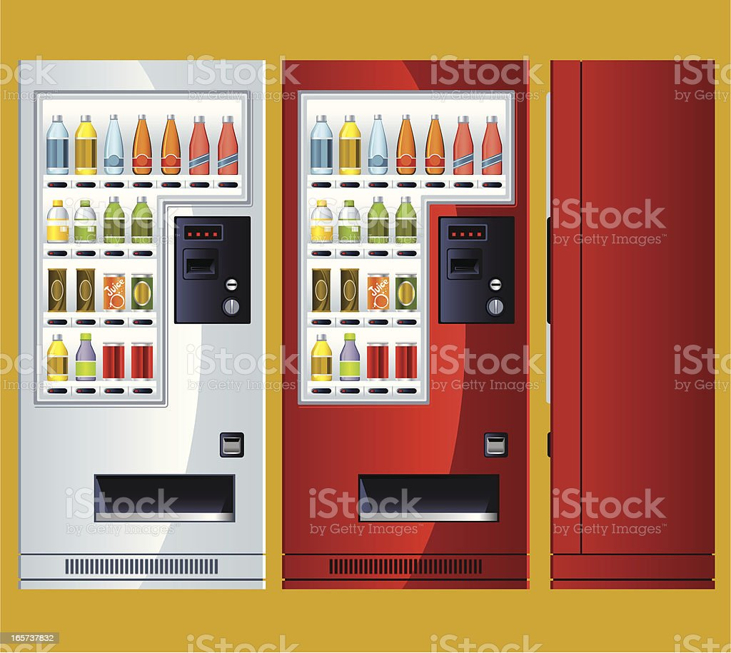 Beverage Vending Machine vector art illustration