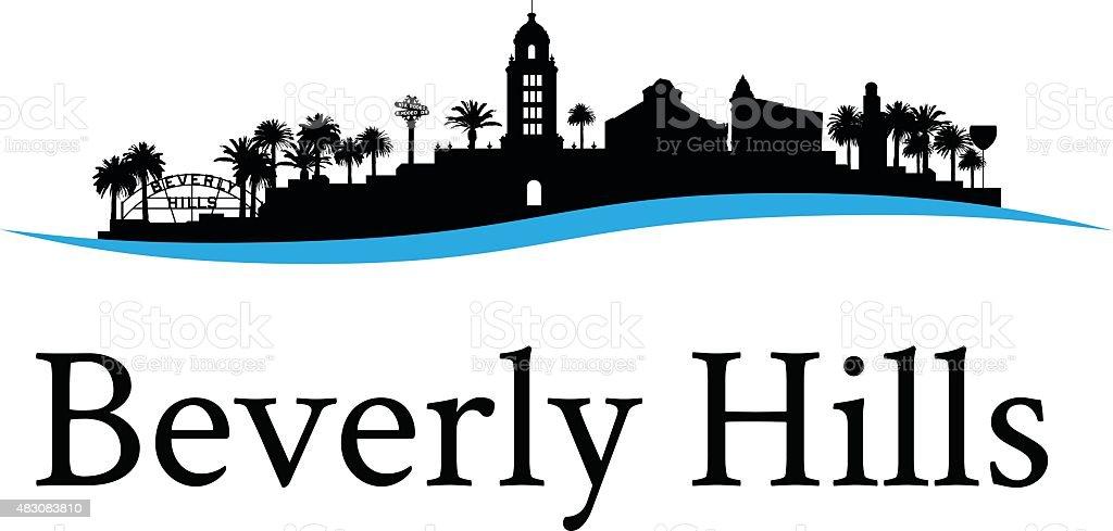 Beverly Hills Cityscape vector art illustration
