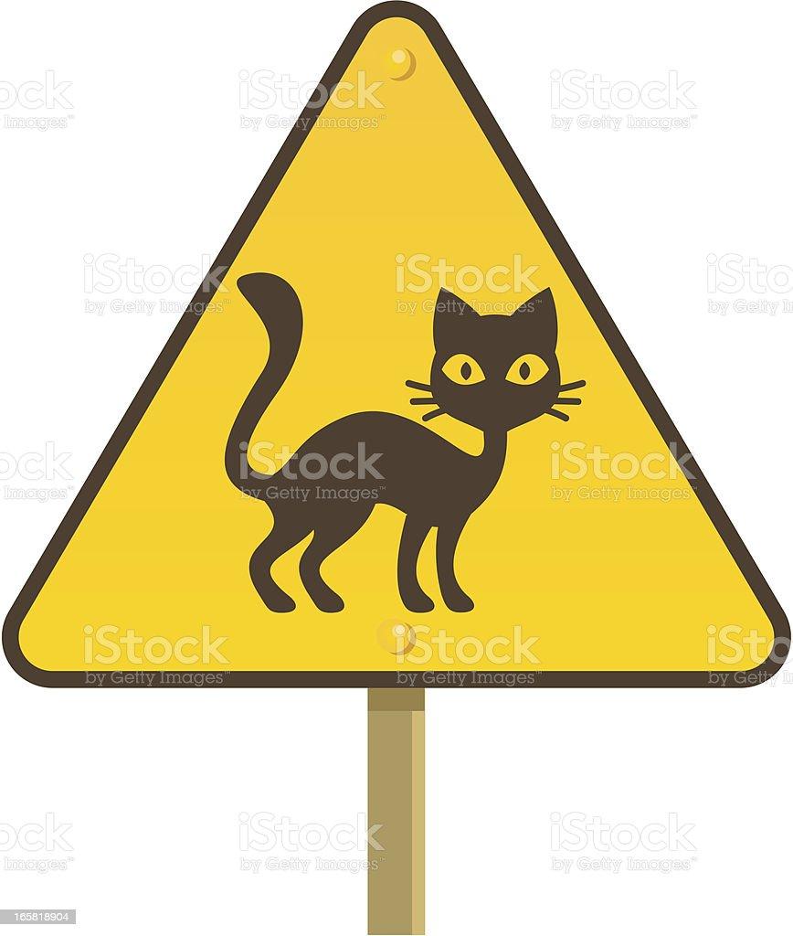 Beware of black cats! royalty-free stock vector art