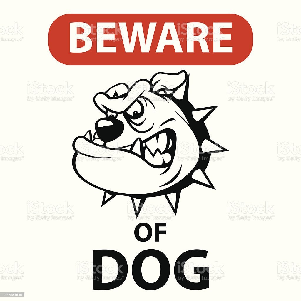 Beware of dog royalty-free stock vector art