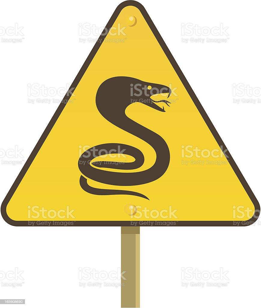 Beware of snakes! vector art illustration