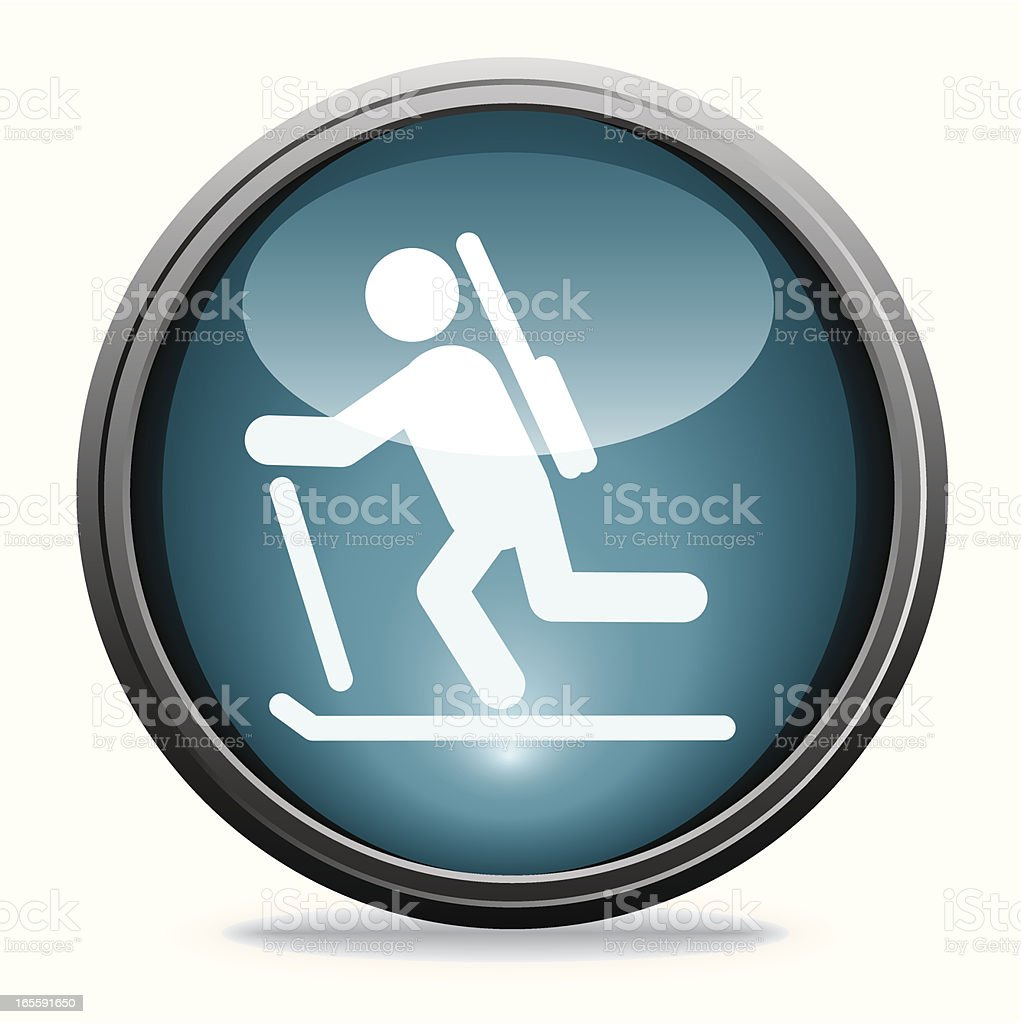 Biathlon | Glass Collection vector art illustration
