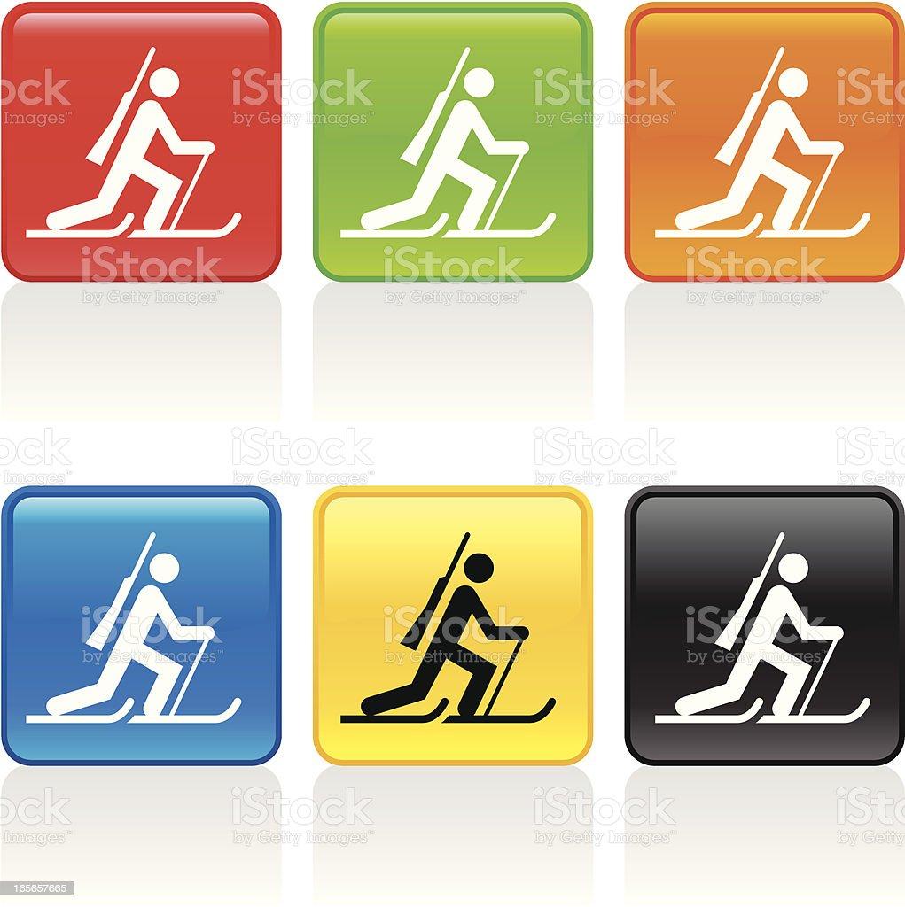 Biathlon Icon vector art illustration