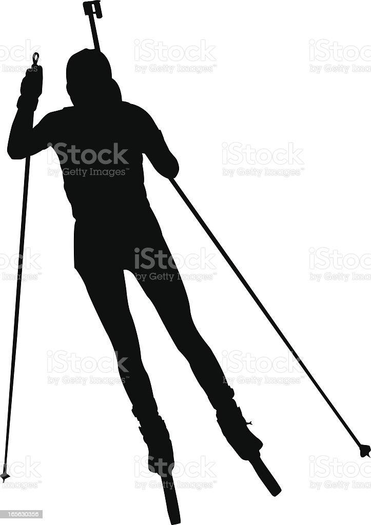 Biathlon royalty-free stock vector art