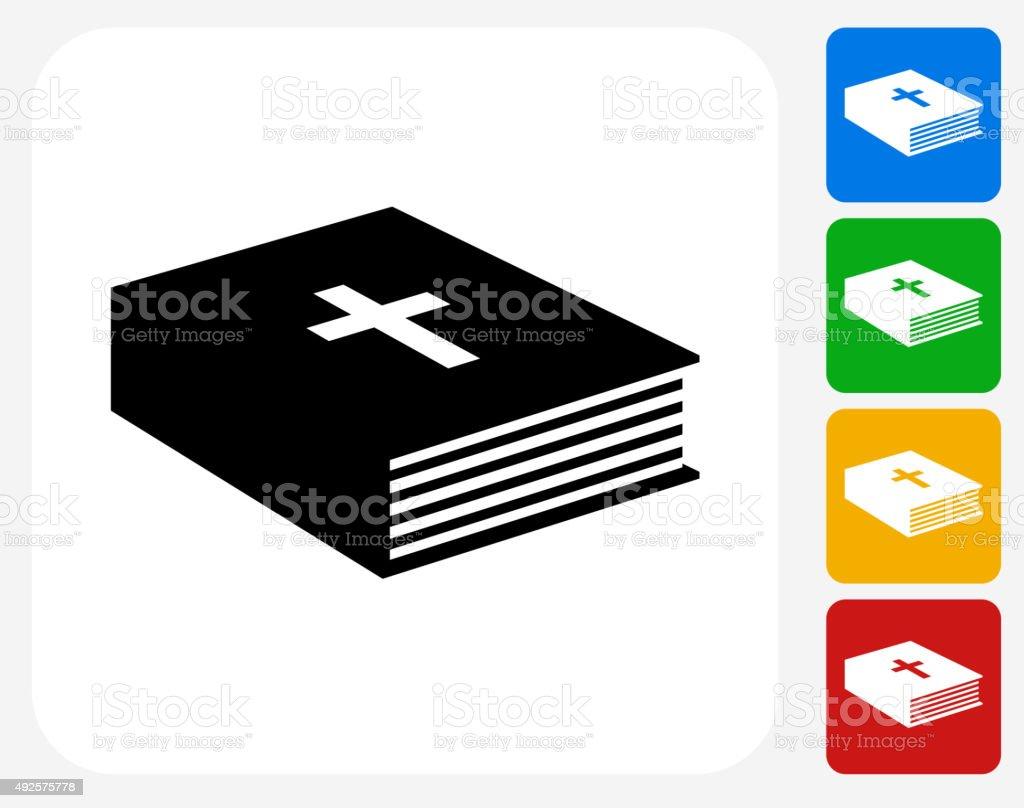 Bible Book Icon Flat Graphic Design vector art illustration