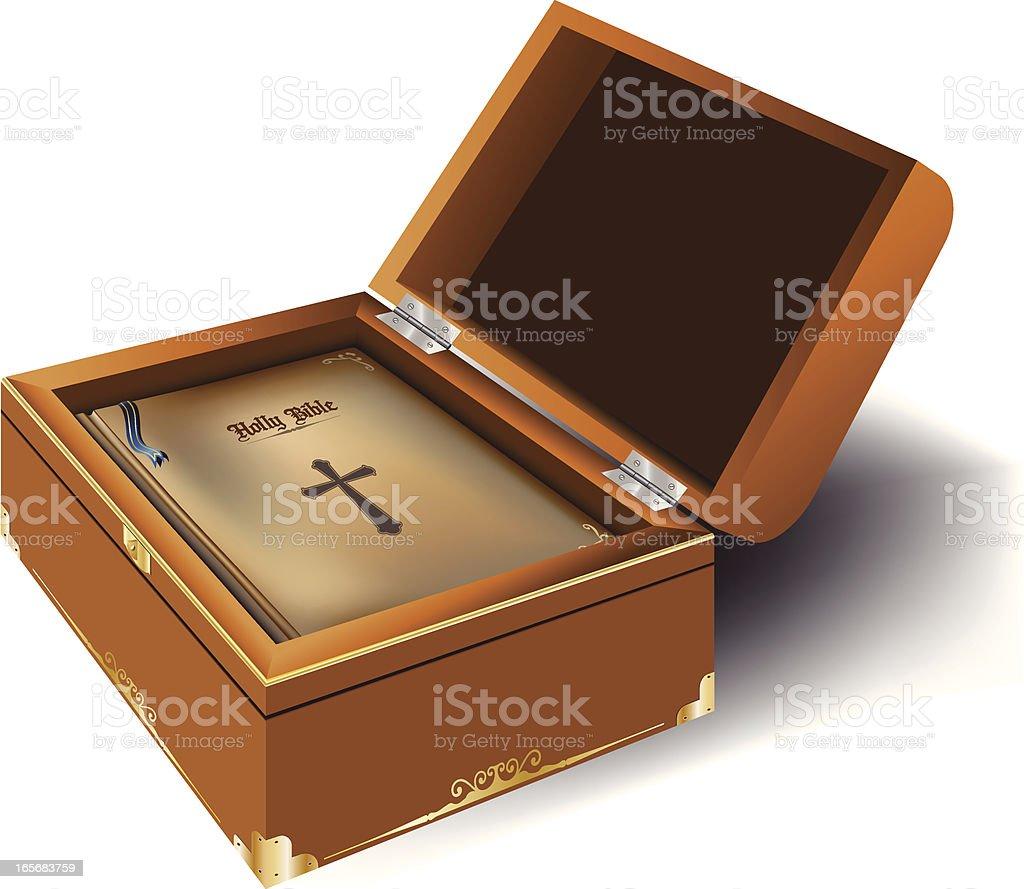 Bible box vector art illustration