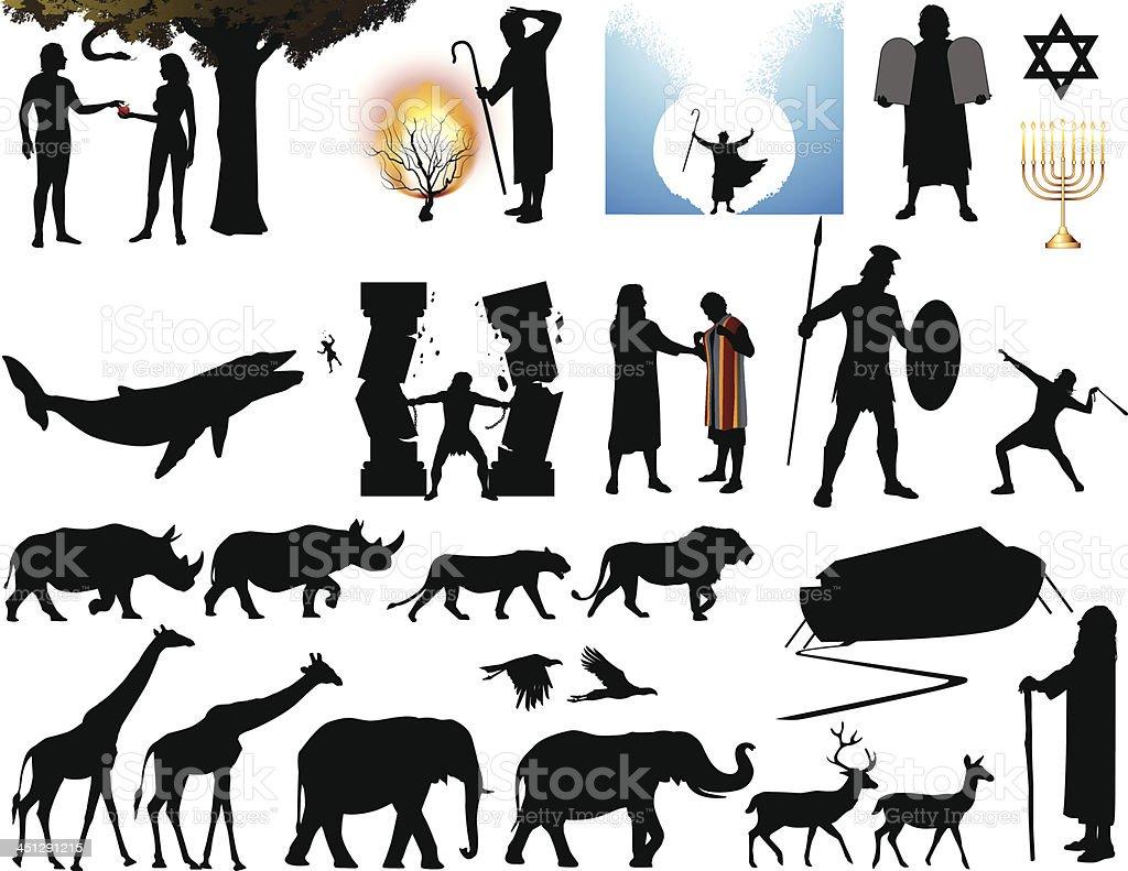 Bible Old Testament vector art illustration