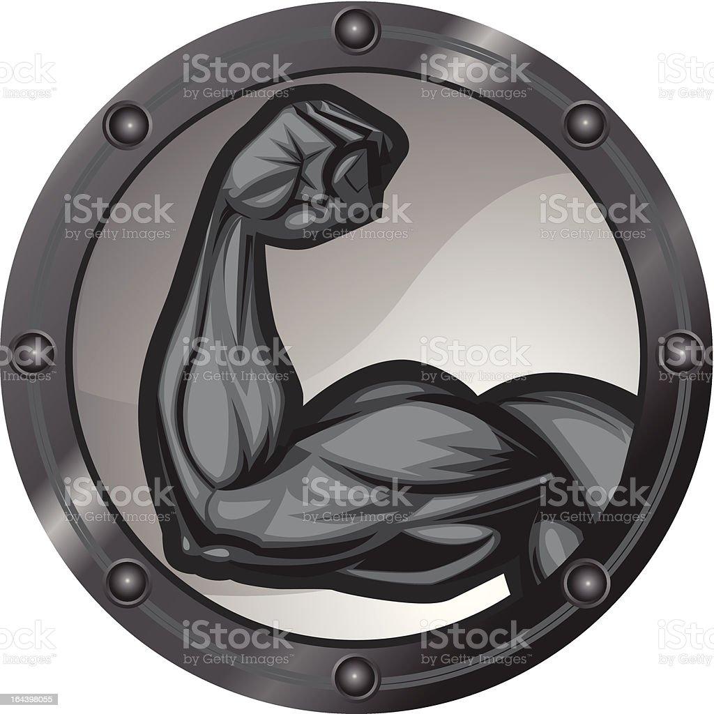 Bicep Flexing Icon royalty-free stock vector art