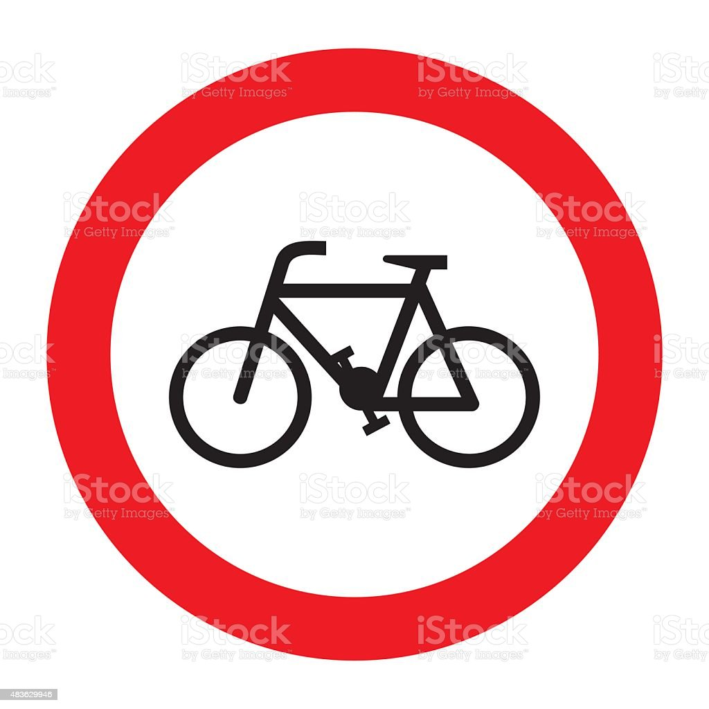 Bicycle allowed sign. vector art illustration